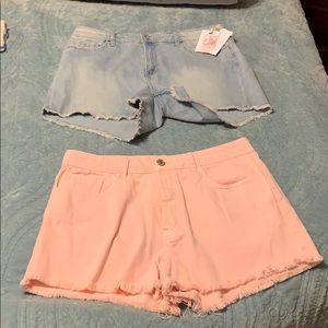 NWT JESSICA SIMPSON & H&M PINK& DENIM SHORT BUNDLE